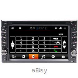 2-DIN Car Stereo DVD Player Receiver with 6.2Touchscreen Display GPS Navigation