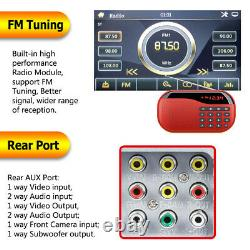 6.2in Touch Screen Car In Dash Stereo Radio DVD MP5 Player 2DIN Bluetooth TF USB