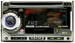 AIWA Double Din Receiver Car Stereo AM/FM CD PLAYER TAPE AUX COMBO OLD SCHOOL