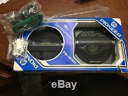 Alpine Car Stereo Vintage, includes New Vintage Pioneer speakers new in the box