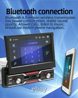 Bluetooth Stereo Radio MP5 Retractable Screen Player GPS/FM/USB Fit For Car SUV