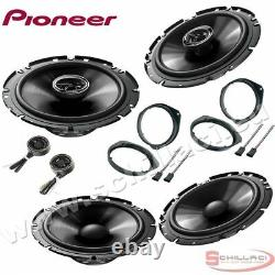 Car stereo front and rear 6 speakers kit for PIONEER Alfa Romeo Mito 2008-2016 w