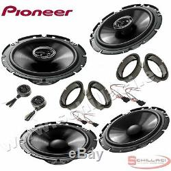 Car stereo front and rear 6 speakers kit for PIONEER Volkswagen VW Passat B5 96
