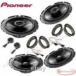 Car stereo front and rear 6 speakers kit for PIONEER Volkswagen VW polo 5 2009