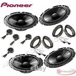 Car stereo front and rear 8 speakers kit for PIONEER Volkswagen VW Passat B5 96