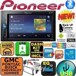 FITS GM CAR-TRUCK-VAN-SUV PIONEER Bluetooth Radio Stereo Double Din Dash Kit USB