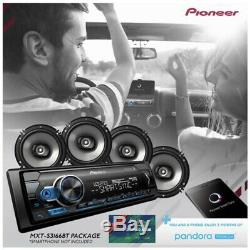 FREE SHIPPING New Pioneer Car Stereo Bluetooth Digital Media Four 6.5 Speakers