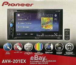 NEW Pioneer AVH-201EX 2-DIN In-Dash 6.2 LCD DVD/CD/AM/FM Car Stereo Receiver