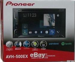 NEW Pioneer AVH-500EX Double-DIN Bluetooth DVD IPOD Car Stereo with 6.2 Screen