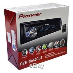 New DEH-X6000BT Car In Dash CD MP3 USB AUX Stereo WithBluetooth 4 2-WAY Speakers