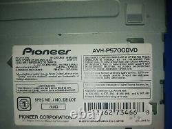Old school rare Pioneer AVH-P5700DVD Car Stereo 12 Volt Deck hard to find