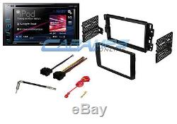 PIONEER 6.2 TOUCHSCREEN DOUBLE 2 DIN CAR STEREO With COMPLETE DASH KIT & HARNESS