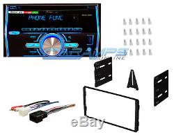 PIONEER DOUBLE 2 DIN BLUETOOTH CAR STEREO With DASH INSTALLATION TRIM KIT HARNESS