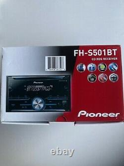 PIONEER FH-S501BT, AM / FM / CD / Bluetooth Double Din Car Stereo New In Box