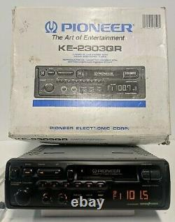 PIONEER KE-2303QR RARE Pull Out Cassette Car Radio Stereo Old School -Tested