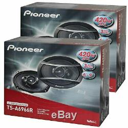 Pioneer (2) PAIRS TS-A6966R 6x9 3-Way 420W Car Coaxial Audio Stereo Speakers