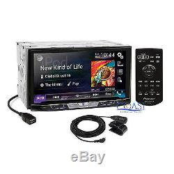 Pioneer 2017 DVD Car Stereo Dash Kit Steering SWC Harness for 2009+ Ford F-150