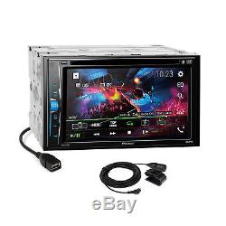 Pioneer 2018 DVD Bluetooth Stereo Dash Kit Harness for 2008+ Ford Mercury Mazda