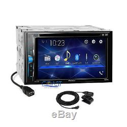 Pioneer 2018 DVD USB Bluetooth 2 Din Dash Kit Harness for 2007-11 Toyota Camry