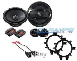 Pioneer 6.5 2 Way Component Set Car Truck Stereo Speakers W Brackets & Harness