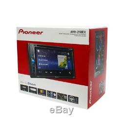 Pioneer AVH-210EX 6.2 Double-DIN Car Stereo In-Dash DVD Receiver with Bluetooth