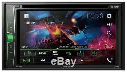 Pioneer AVH-211EX Bluetooth DVD USB AUX Car Stereo with 6.2 Touchscreen