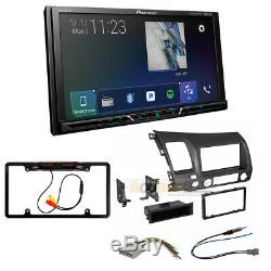 Pioneer Apple Car-Play Double DIN Radio Stereo Dash Kit for 2006-11 Honda Civic