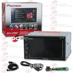 Pioneer Avh-290bt Car Double Din 6.2 Touchscreen Usb DVD CD Bluetooth Stereo