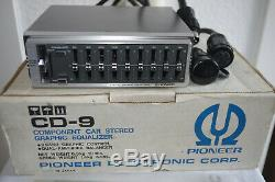 Pioneer CD-9 Graphic Equalizer 9 Band Component car stereo vintage brandnew