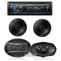 Pioneer Car Stereo Digital Media Receiver with Bluetooth USB/6.5&6.9 SPEAKERS
