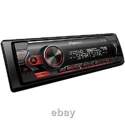 Pioneer Car Stereo Player1-DIN Media ReceiverBluetoothiPhone-AndroidUSB-AUX