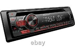 Pioneer DEH-S1100UB 1-DIN Car Stereo CD Player Receiver with Aux USB/Free Cable
