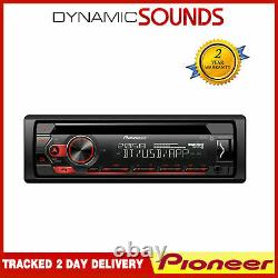 Pioneer DEH-S320BT 1-Din Car Stereo Bluetooth USB Aux iPhone Android Spotify