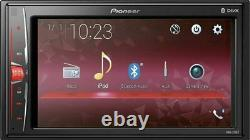 Pioneer DMH-220EX Car Stereo 6.2 Touchscreen Receiver & Coaxial Speakers Bundle