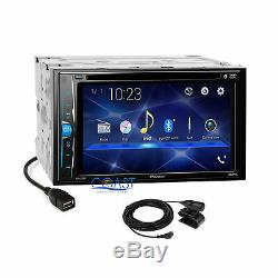 Pioneer DVD USB Stereo Gloss Dash Kit Amp SWC Harness for 2013+ Nissan Altima
