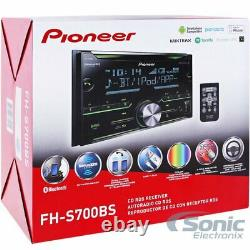 Pioneer FH-S700BS Double DIN Bluetooth USB MP3 CD Car Stereo In-Dash Receiver