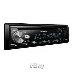 Pioneer Single DIN Bluetooth AM FM USB AUX CD Player Car Stereo with Built-in Amp