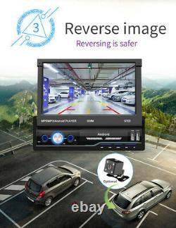 Single Din Touch Screen Android 8.1 Car Stereo 7 GPS Navi WiFi Radio Player MLK