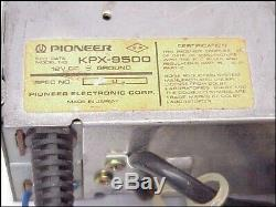 Vintage Pioneer Car Stereo Cassette Pioneer KPX-9500 & GM-120 Amp 70 SS Chevelle