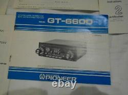 Vintage Pioneer GT-6600 Car Stereo Radio CB NEW Old Stock, Unused, All Inserts
